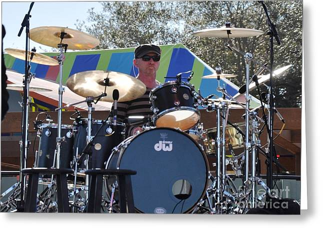 Myron Grombacher - Pat Benatar Band Greeting Card by John Black