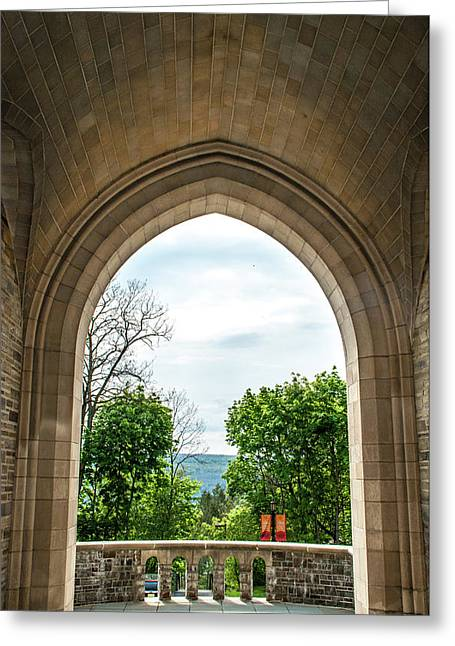 Myron Taylor Hall Archway Greeting Card by Optical Playground By MP Ray