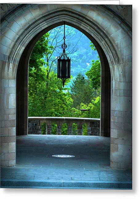 Myron Taylor Hall, Law School Of Cornell University Greeting Card by Optical Playground By MP Ray