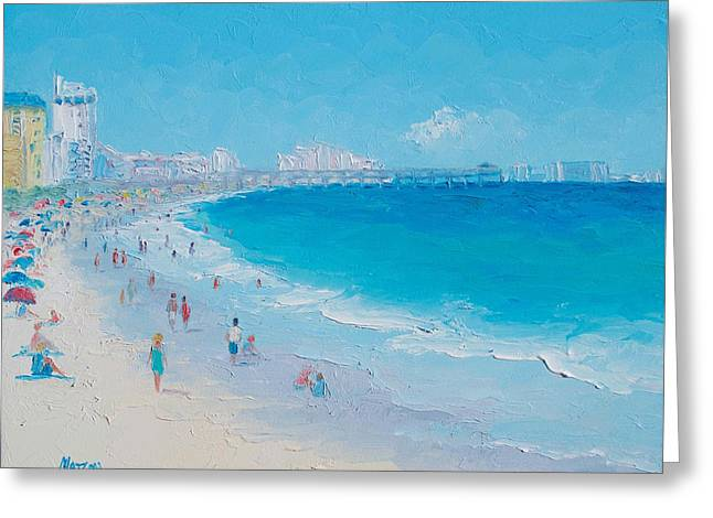Myrtle Beach And Springmaid Pier Greeting Card