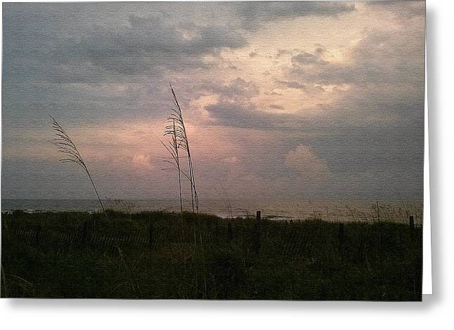 Myrtle Beach At Dusk Greeting Card