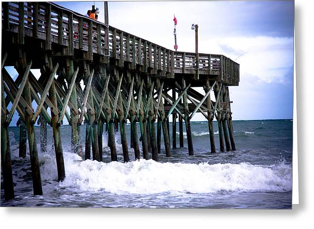 Myrtle Beach Pier Greeting Card