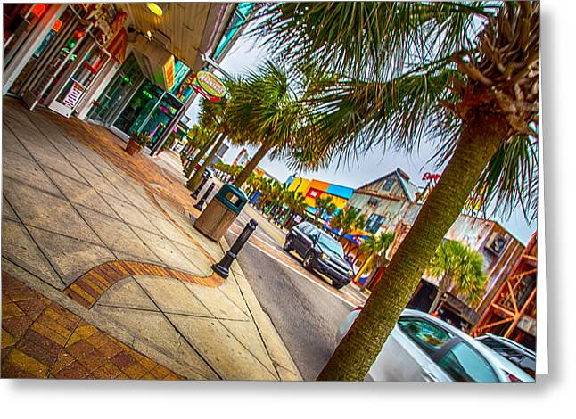Myrtle Beach Shopping Greeting Card by Karol Livote