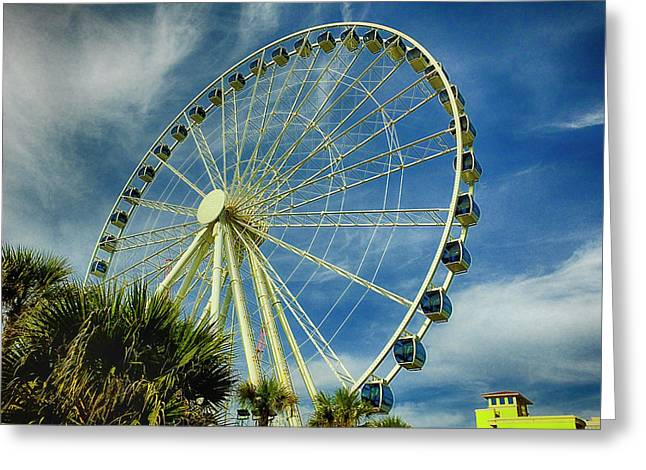 Greeting Card featuring the photograph Myrtle Beach Skywheel by Bill Barber