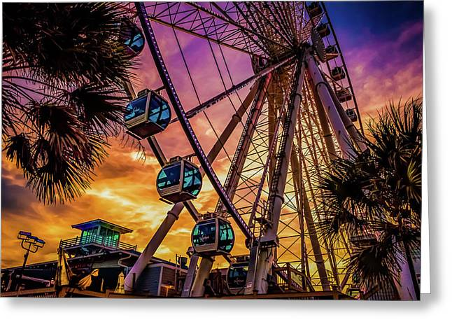 Myrtle Beach Skywheel Greeting Card