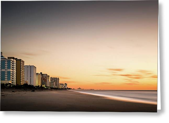 Myrtle Beach Sunrise Greeting Card by Ivo Kerssemakers