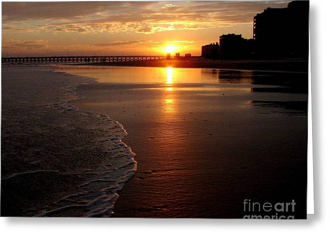 Myrtle Beach Sunset Greeting Card by Patricia L Davidson