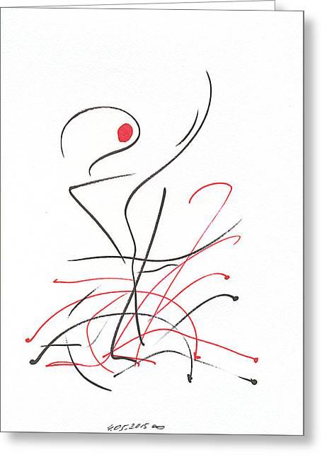 Myselfie. 4 March 2015 Greeting Card by Tatiana Chernyavskaya