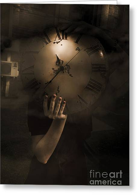 Mysteries Of Time Greeting Card