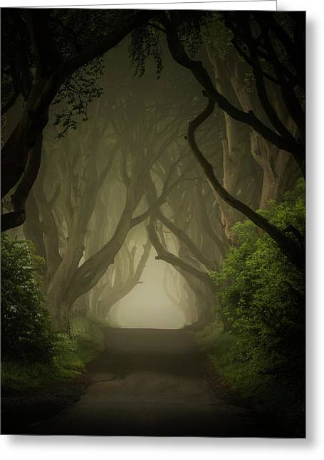 Mysterious Alley At Dawn Greeting Card by Jaroslaw Blaminsky