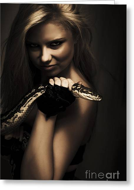Mysterious Dark Sorceress Greeting Card by Jorgo Photography - Wall Art Gallery