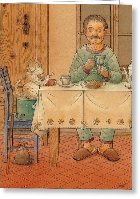 Mysterious Guest Greeting Card by Kestutis Kasparavicius