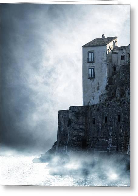 Mysterious House Greeting Card by Joana Kruse