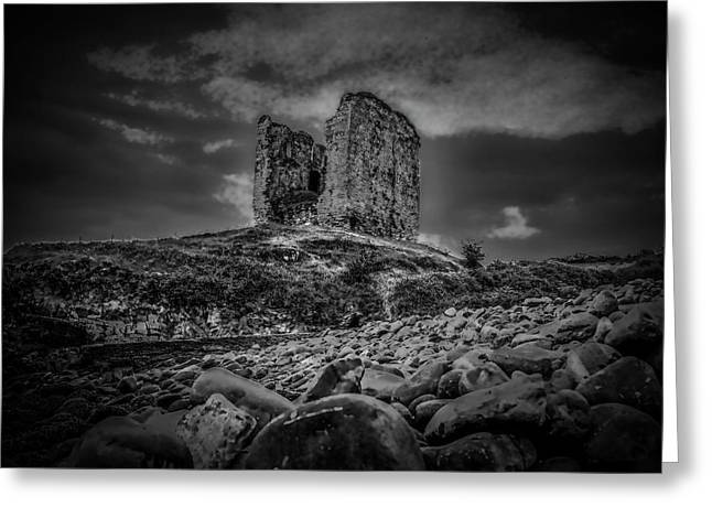 Mysterious Past Bw. Greeting Card by Leif Sohlman