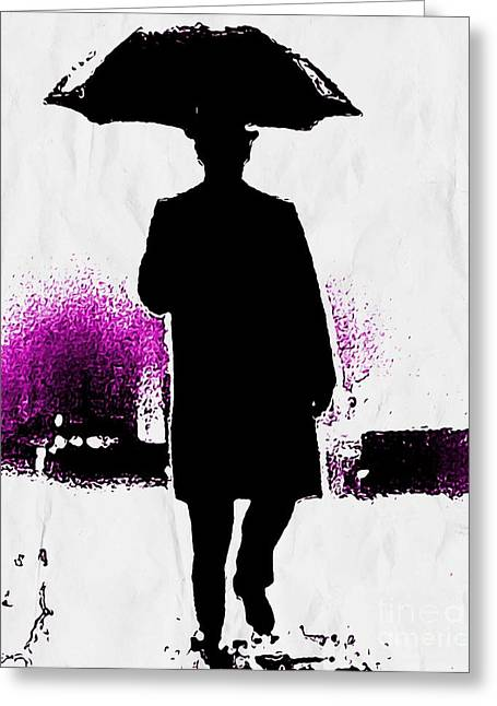 Mysterious Silhouette   Greeting Card