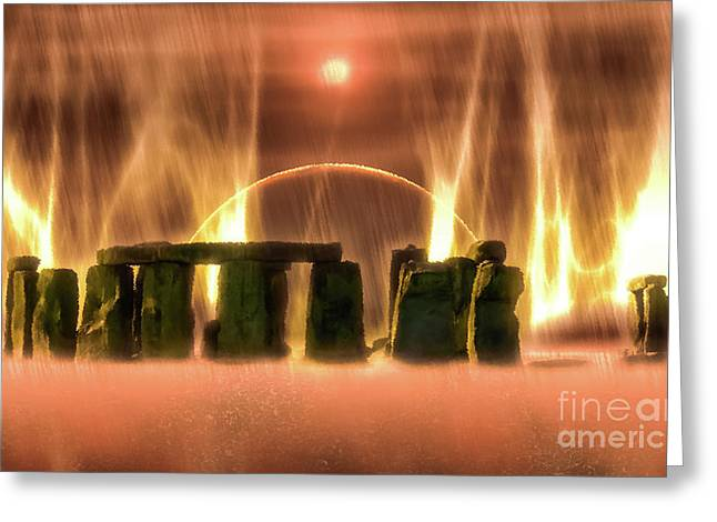 Mysterious Stonehenge Greeting Card