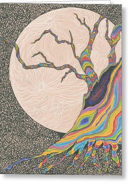 Mysterious Universe Greeting Card by Rachel Zuniga