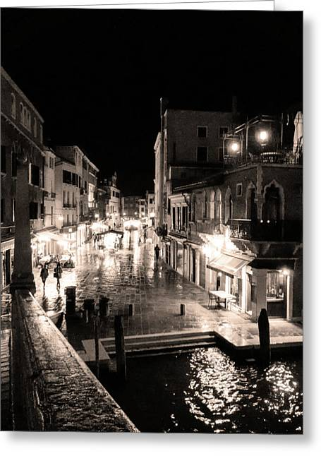 Mysterious Venice Monochrom Greeting Card
