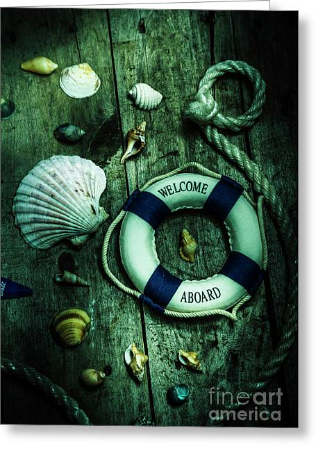 Mystery Aboard The Sunken Cruise Line Greeting Card by Jorgo Photography - Wall Art Gallery