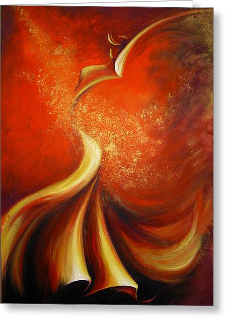 Mystery Dance Greeting Card by Dina Dargo