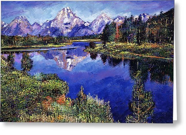 Mystery Lake Greeting Card by David Lloyd Glover