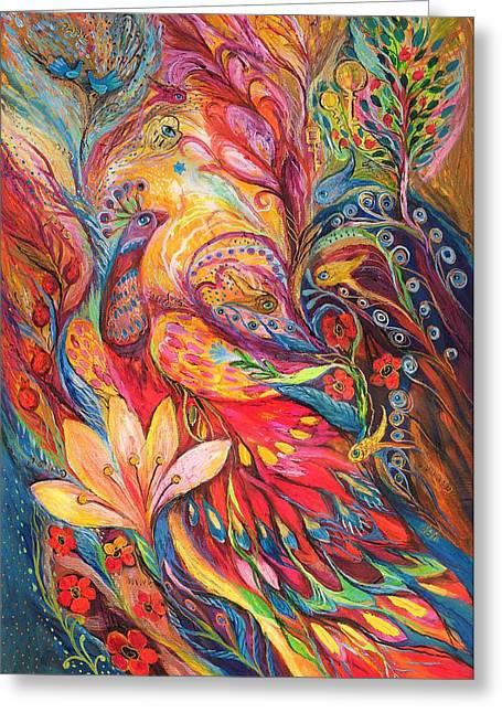 Mystery Of Blue Pigeons Greeting Card by Elena Kotliarker