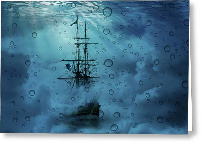Mystery Ship Underwater Greeting Card