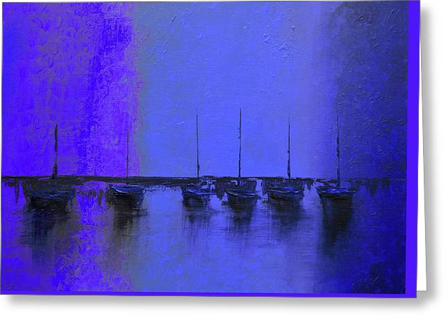 Mystic Bay Purple And Blue Greeting Card