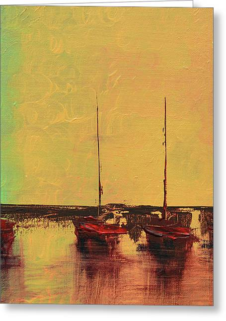 Mystic Bay Triptych 2 Of 3 Greeting Card