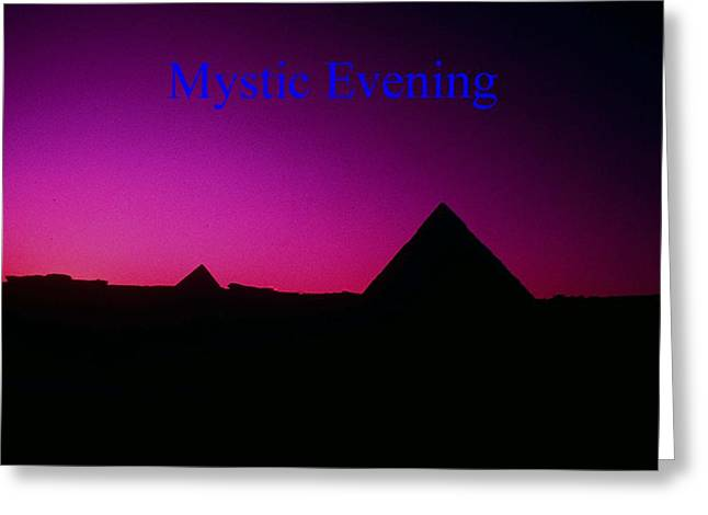 Mystic Evening Greeting Card by Gary Wonning