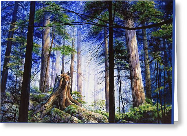 Mystic Forest Majesty Greeting Card by Hanne Lore Koehler