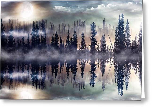 Mystic Lake Greeting Card by Gabriella Weninger - David