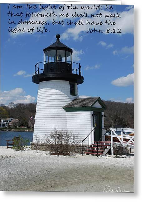 Mystic Lighthouse John 8-12 Greeting Card