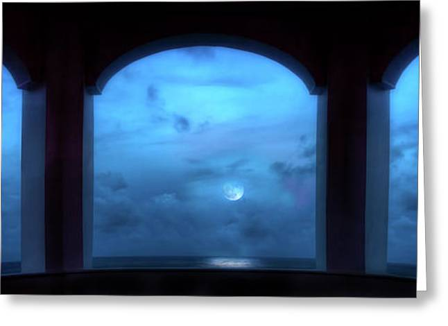 Mystic Moonrise Greeting Card by Mark Andrew Thomas