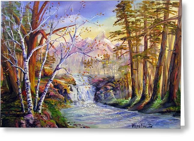 Mystic Mountain Stream Greeting Card