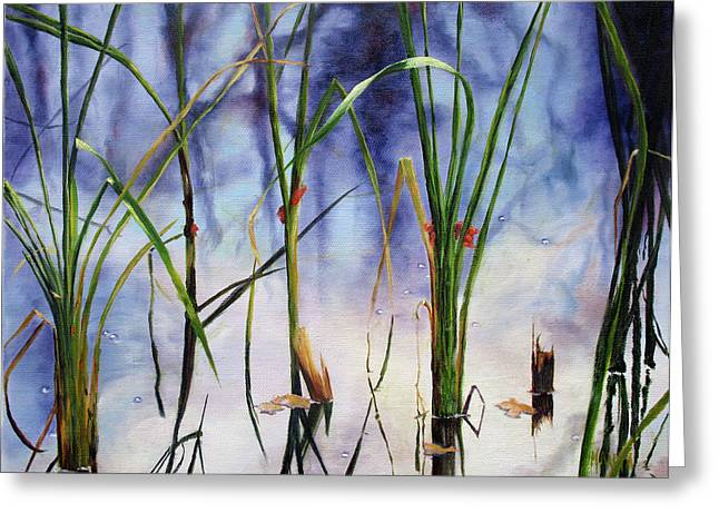 Mystic Pond Greeting Card