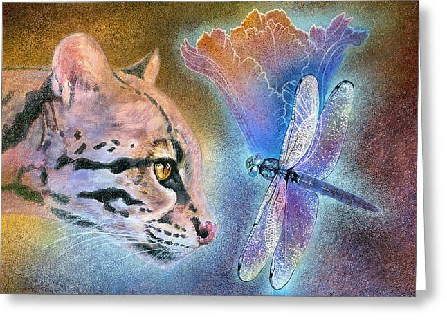 Greeting Card featuring the painting Mystic by Ragen Mendenhall