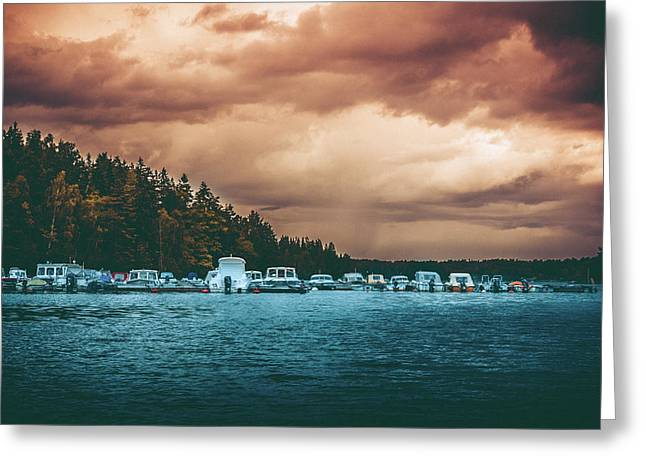 Mystic River Greeting Card by Damion Lawrence