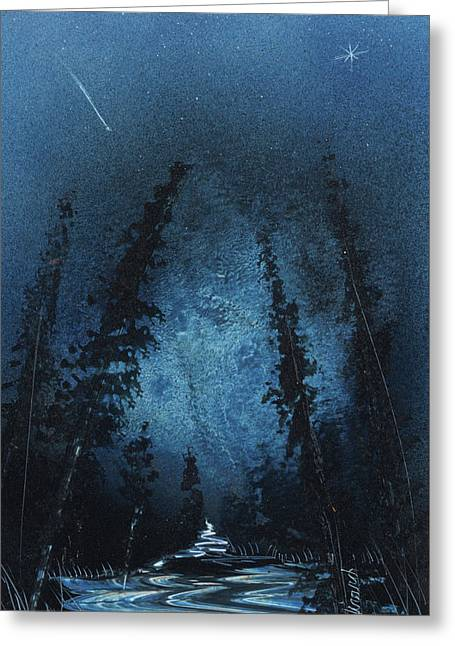 Mystic River Greeting Card by Jason Girard