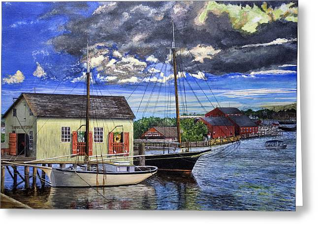 Mystic Seaport Ct Greeting Card