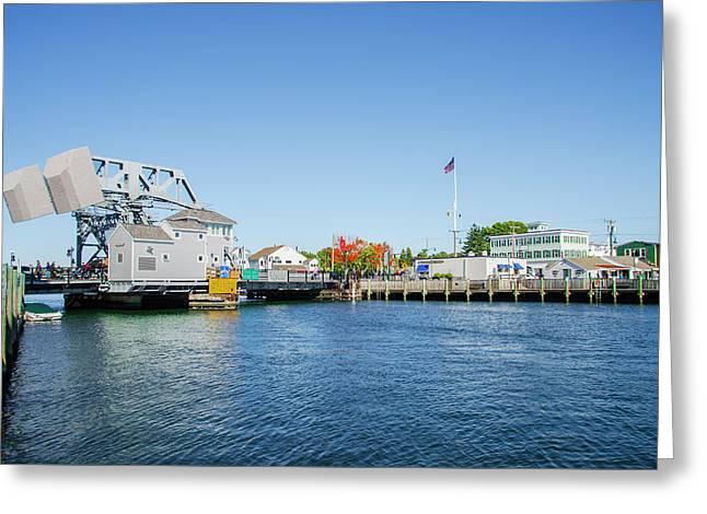 Mystic Seaport Drawbridge - Connecticut Greeting Card by Bill Cannon