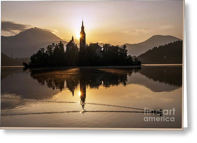 Mystic Sunrise Greeting Card by Bedros Awak