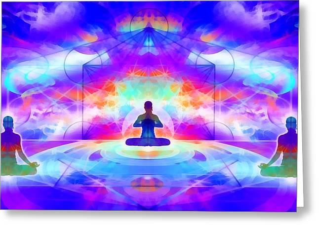 Greeting Card featuring the digital art Mystic Universe 10 by Derek Gedney