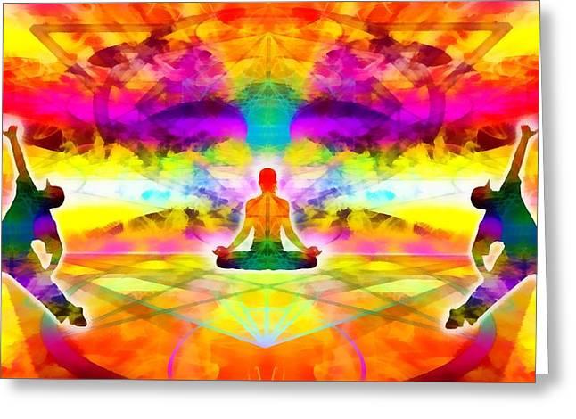 Greeting Card featuring the digital art Mystic Universe 11 by Derek Gedney