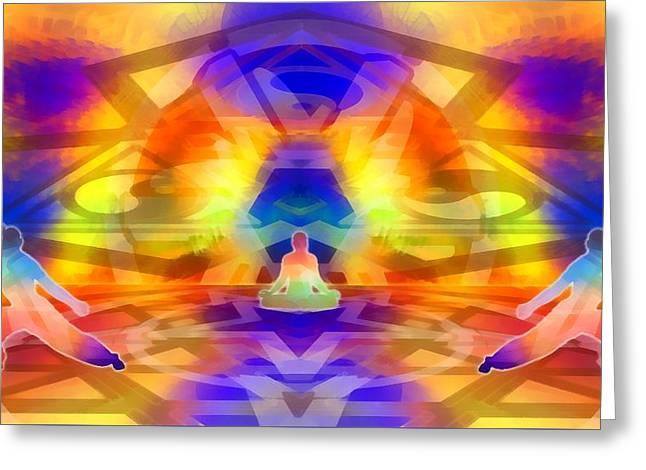 Greeting Card featuring the digital art Mystic Universe 12 by Derek Gedney