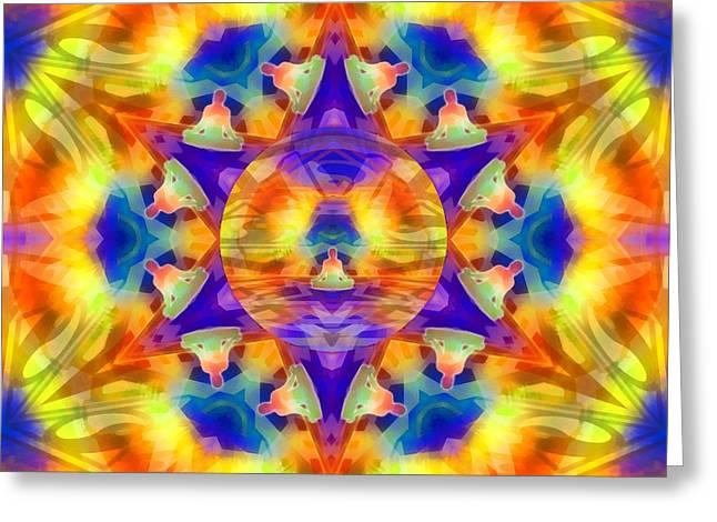 Greeting Card featuring the digital art Mystic Universe Kk 12 by Derek Gedney