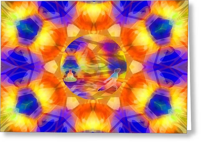 Greeting Card featuring the digital art Mystic Universe 12 Kk2 by Derek Gedney