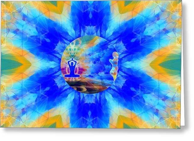 Greeting Card featuring the digital art Mystic Universe 13 Kk2 by Derek Gedney
