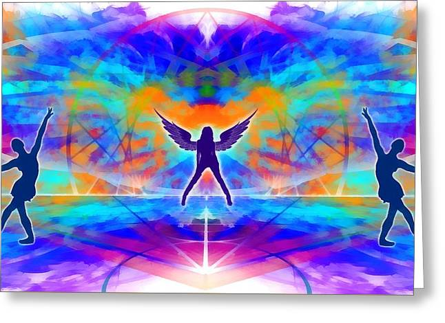 Greeting Card featuring the digital art Mystic Universe 15 by Derek Gedney