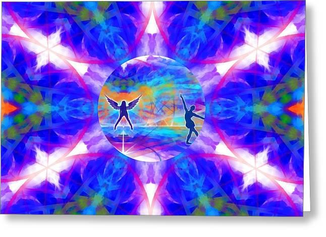 Greeting Card featuring the digital art Mystic Universe 15 Kk2 by Derek Gedney